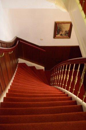 Amsterdam Hotel Parklane: escalera descenso de la segunda planta