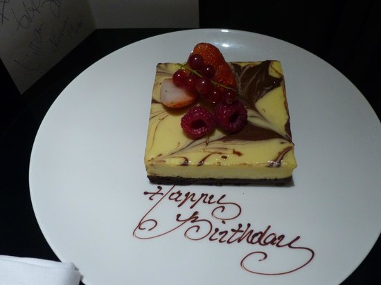 Hotel ICON: Birthday cake - absolutely delicious