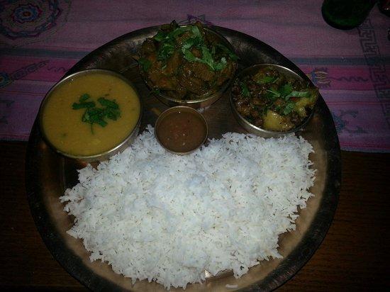 Yak Yeti Yak: Lentils with garlic, pork bhutuwa, potato and chickpeas..