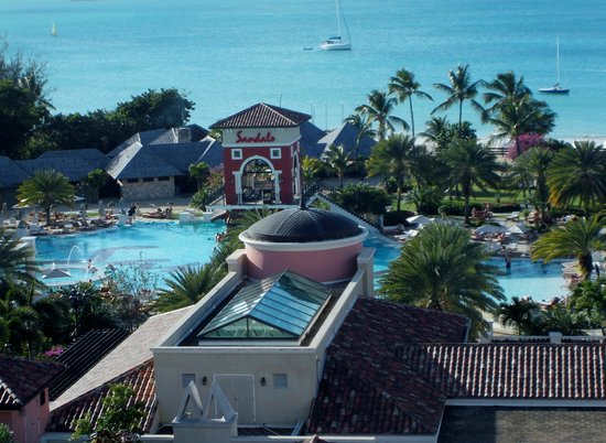 Sandals Grande Antigua Resort & Spa : View from our 7th Floor Mediterranean Room