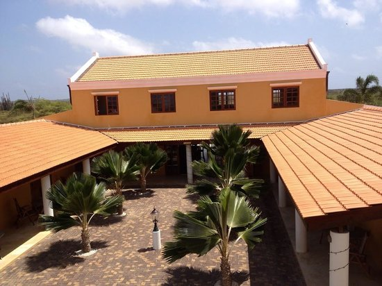 The patio of Wanapa Lodge as seen from our terrace