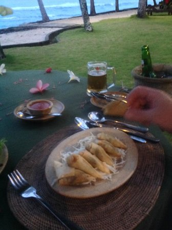 Alang-Alang Boutique Beach Hotel: Lovely meal