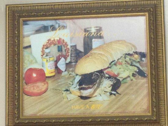 B & C Seafood Market & Cajun Restaurant: Artwork on the wall!