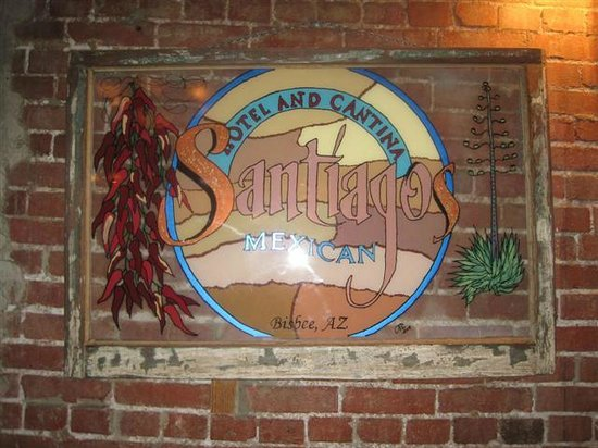 Santiago's Mexican Restaurant: wall sign