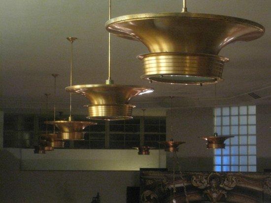 Bisbee's Tavolo: Copper chandeliers