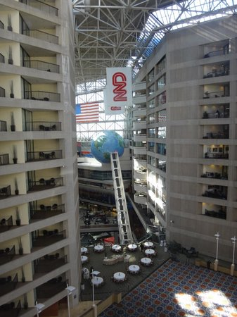 Omni Atlanta Hotel at CNN Center : View from the elevators