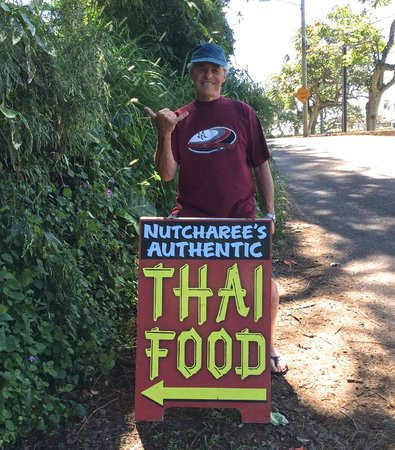 Nutcharee's Authentic Thai Food: look for the sign