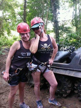 Campo Rico Ziplining Adventure : We got dirty!!!!