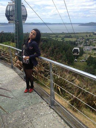 Skyline Rotorua : View of Rotorua From the restaurant