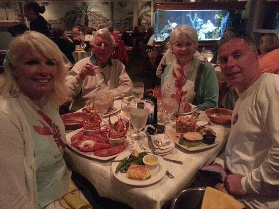 Lazy Lobster of Longboat: We wore the bibs.