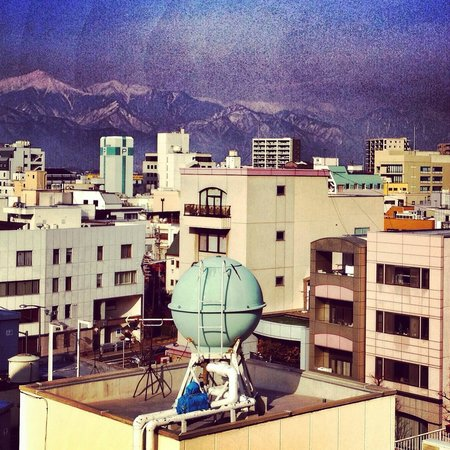 Dormy Inn Matsumoto: Excessively Instragrammed view from our room.