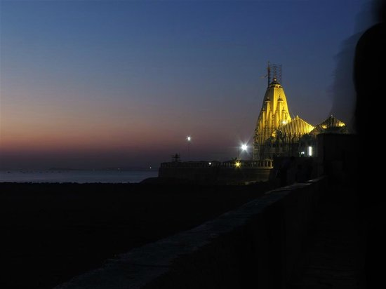 Somnath Temple in the evening