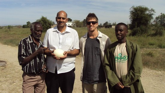 Maasai Ostrich Resort: This egg weighs 2.5 killograms