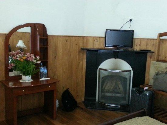 The Trevene Hotel: cheminée dans la chambre
