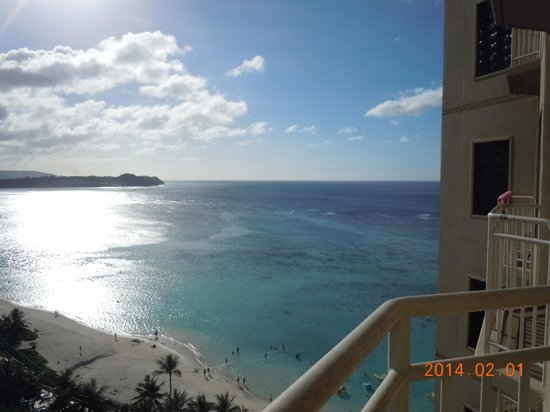 Outrigger Guam Beach Resort : 13階の部屋からの眺め