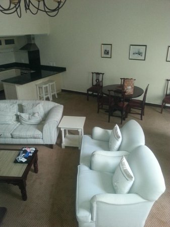 Lake Pleasant Living: lounge area of two bedroom suite (split level suite)