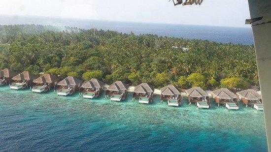 Dusit Thani Maldives: from sea plane...