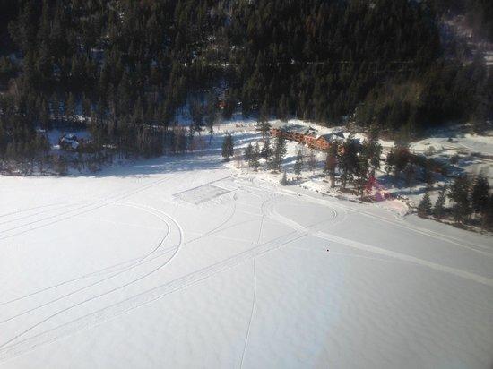 Tyax Lodge & Heliskiing: Vista aérea del lodge