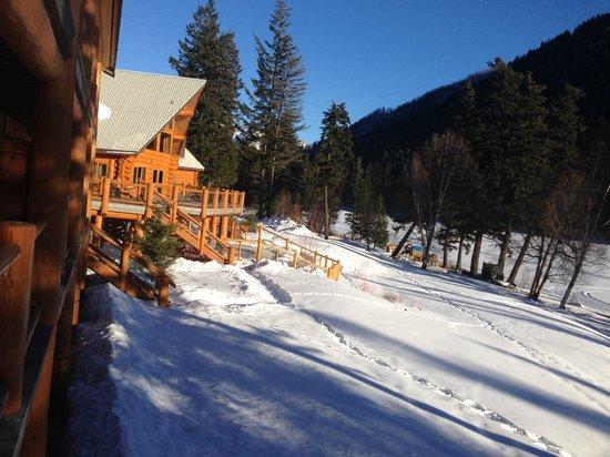 Tyax Wilderness Resort & Spa: Vista desde la terraza de la habitación