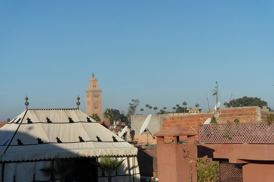 Riad Bouganvilliers: uitzicht vanaf dakterras