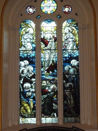 St. Ann's Church: Lovely stained glass window behind the altar