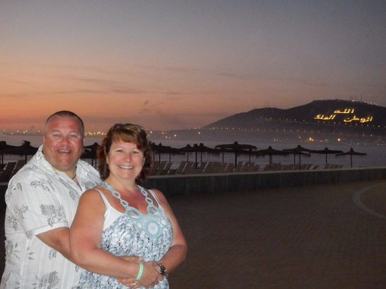 Hotel Riu Tikida Beach: Lovely evening stroll