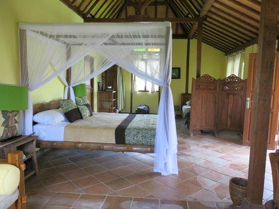 Rumah Sungai Villa: La grande chambre