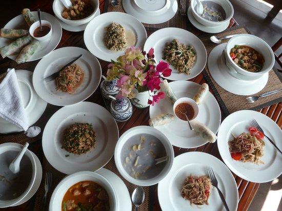 Sanctuary Pakbeng Lodge : Notre cuisine!