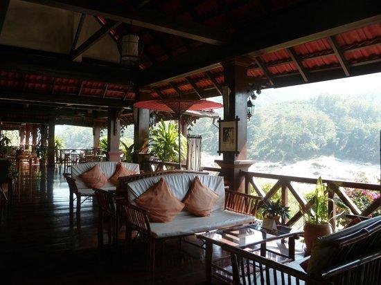 Sanctuary Pakbeng Lodge : La terrasse