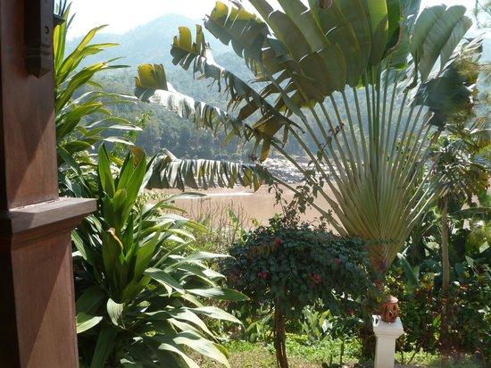 Sanctuary Pakbeng Lodge : La vue sur le Mékong