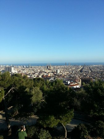 Parc Güell : View of Barna from Guell Park