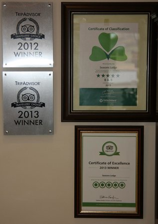Seasons Lodge: Some of our awards