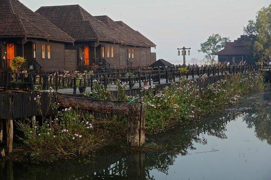 Myanmar Treasure Inle Lake : Beautiful garden