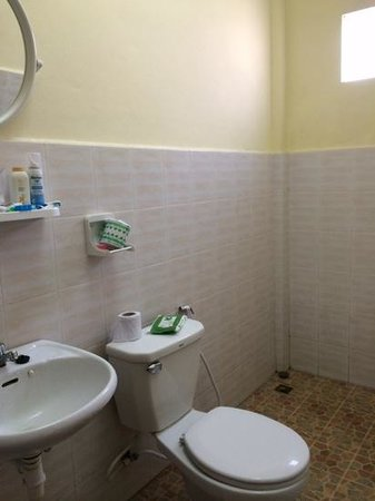 Inthasak Guesthouse: standard bathroom, shower on right
