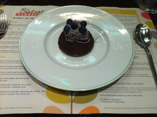 Bistrot Terrasse : Dessert (myrtille/marron)
