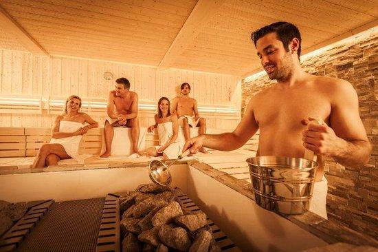 Narzissen Vital Resort - Solebad: Sauna im Narzissen Bad Aussee
