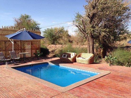 Domos y Eco Camping Los Abuelos: piscina domos
