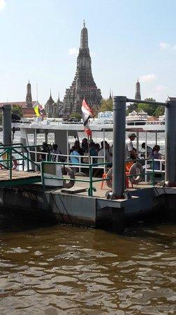Wat Arun (Tempel der Morgenröte): Ferry pier to the Wat