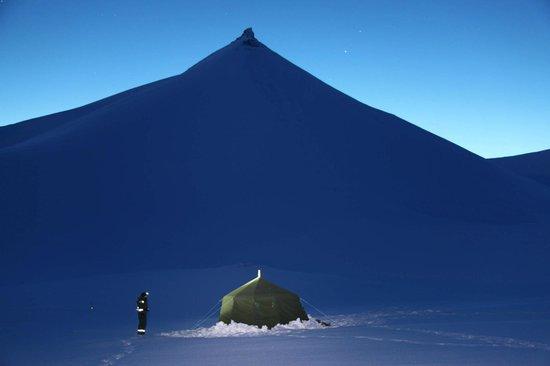 Green Dog Svalbard: Our heated tent at the ScottTurner glacier