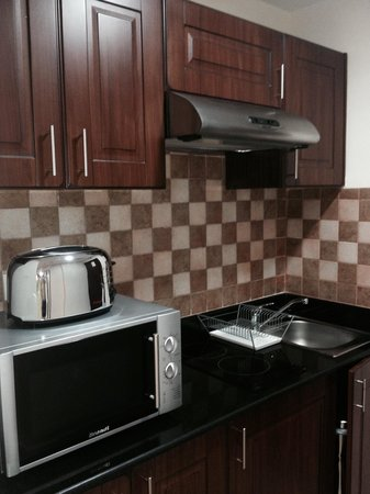 Pearl Marina Hotel Apartments: Small kitchen in the room