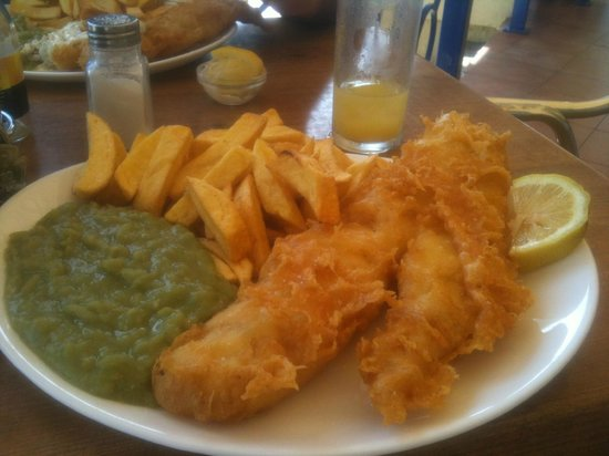 Large Cod & Chips at the Crispy Cod, Fuengirola