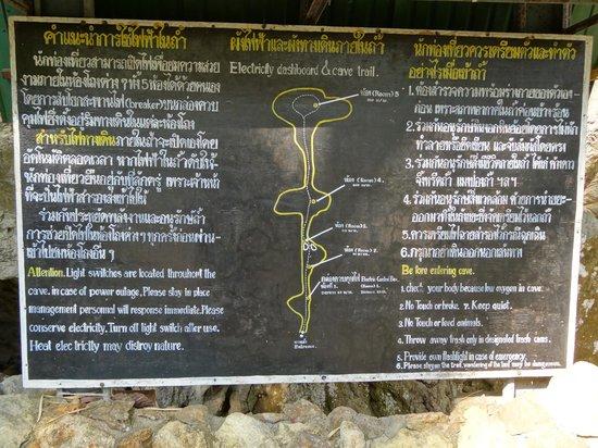 Kaeng Lawa Cave : Le plan des 5 niveau