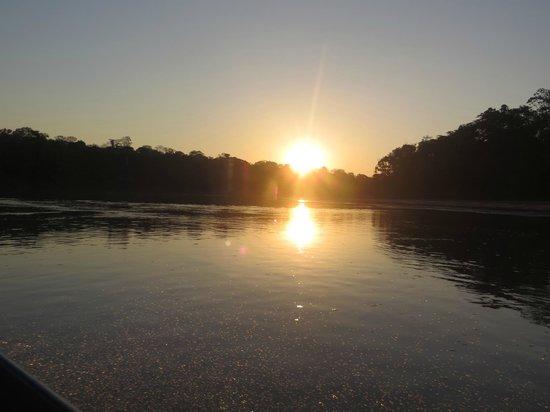 Posada Amazonas: sunset in the Amazon