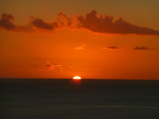 Sunset from veranda on west side of The Inn on the Bay