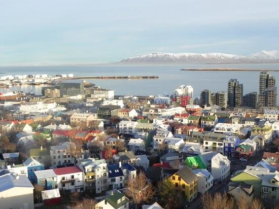 Fosshotel Baron: View from the top of the church in Reykjavik
