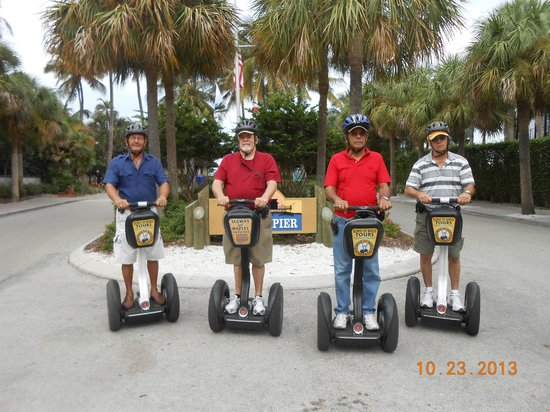 Segway Tours of Naples: Four friends enjoying the beauty of Naples