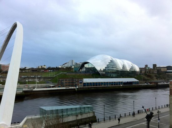 Malmaison Newcastle: the sage seen from our room