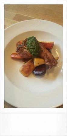 Made by Jonty: 'Beets by jonty' honey roast parsnip,  carrots & beetroot. Lamb cbop5 & sause viergé.