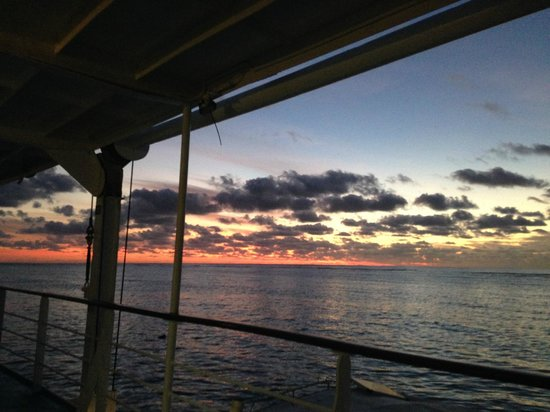 Reef Encounter: This is what we awakened to each morning on the Great Barrier Reef! Gorgeous!