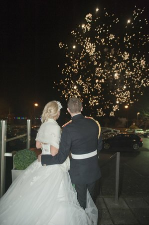 Brisbane House Hotel : Fireworks on the sea front